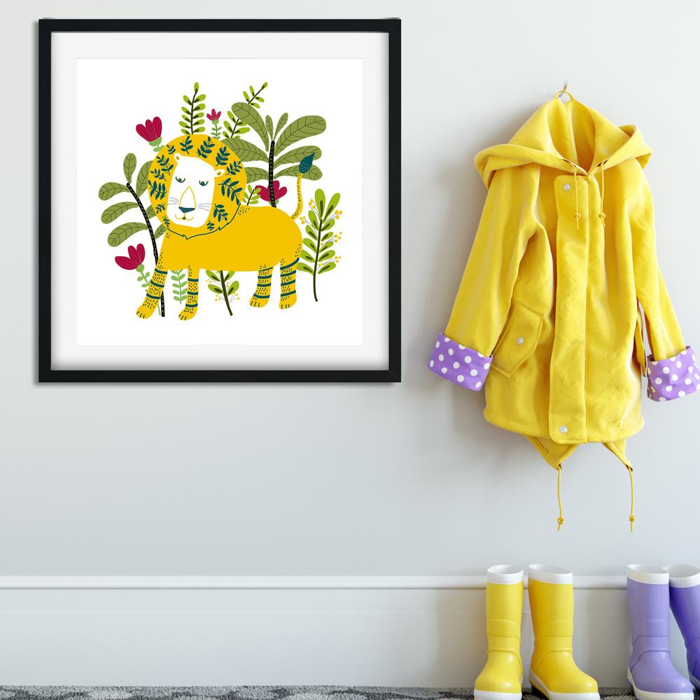 Yellow Lion nursery wall art