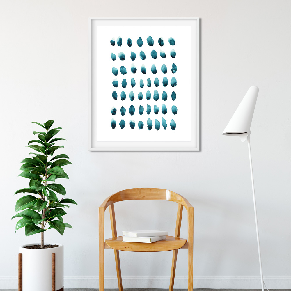 Abstract watercolor art in frame