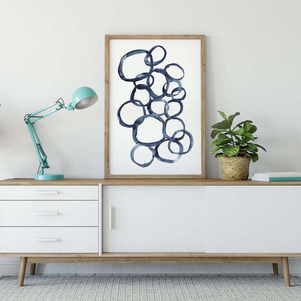 Blue rounds wall art