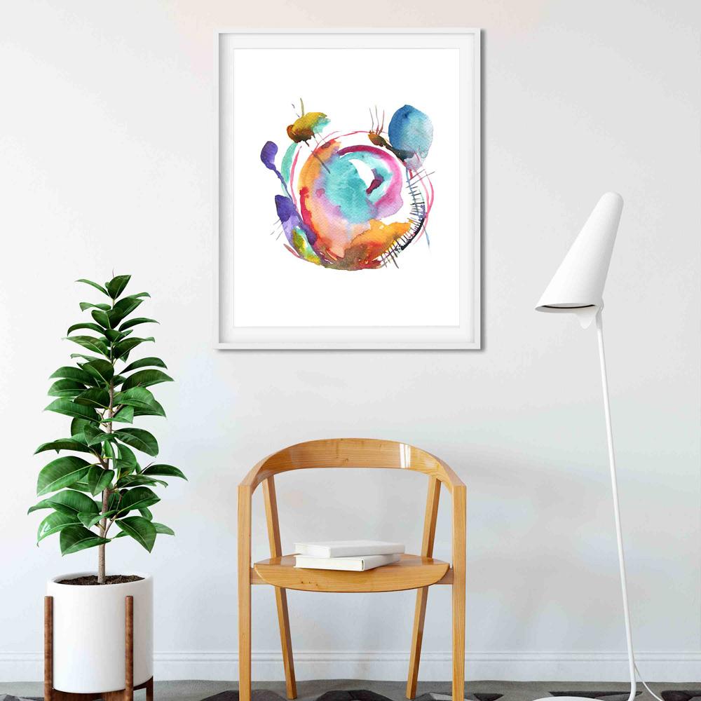 Watercolor abstract wall art