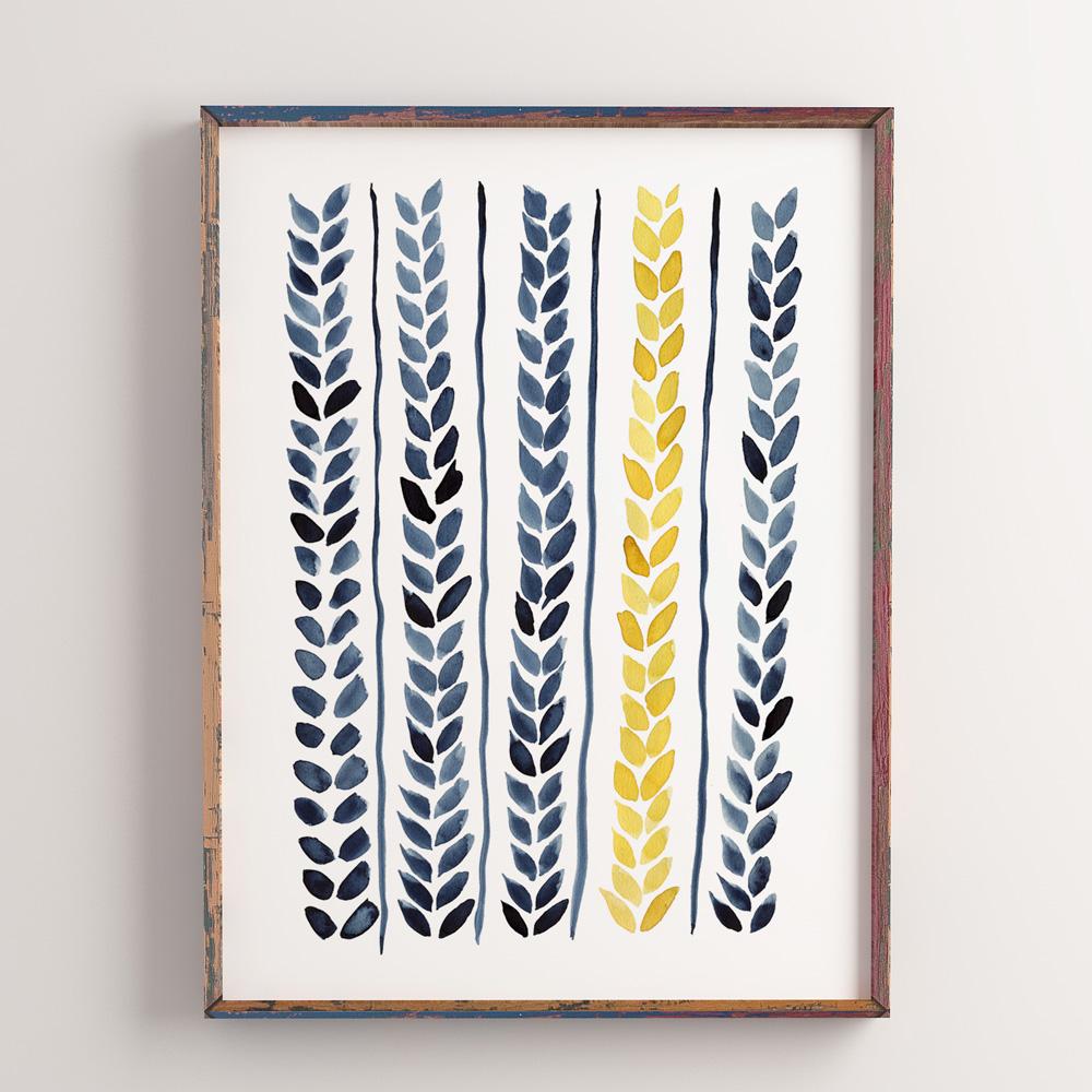 Printable Wheat art 1
