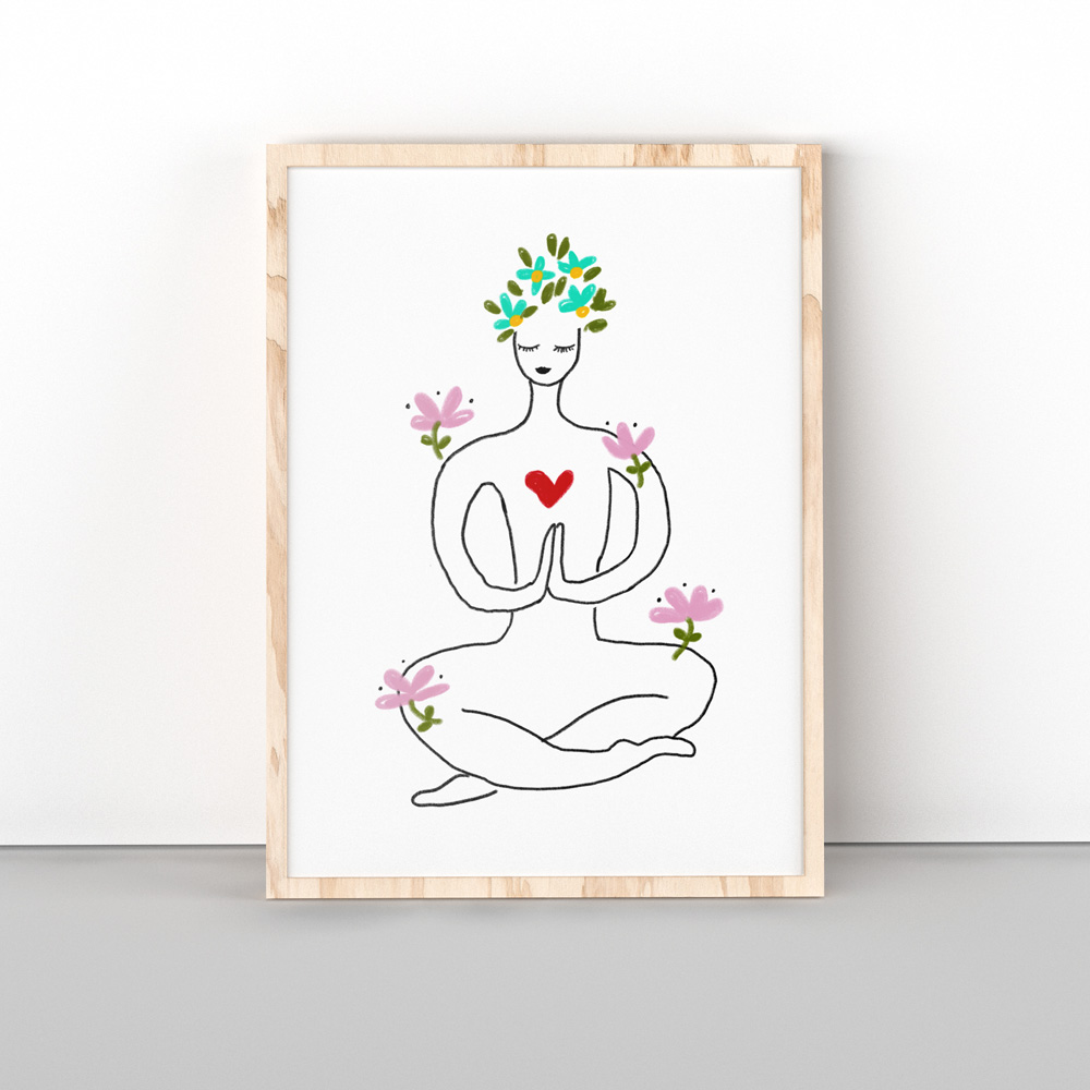Printable yoga wall art