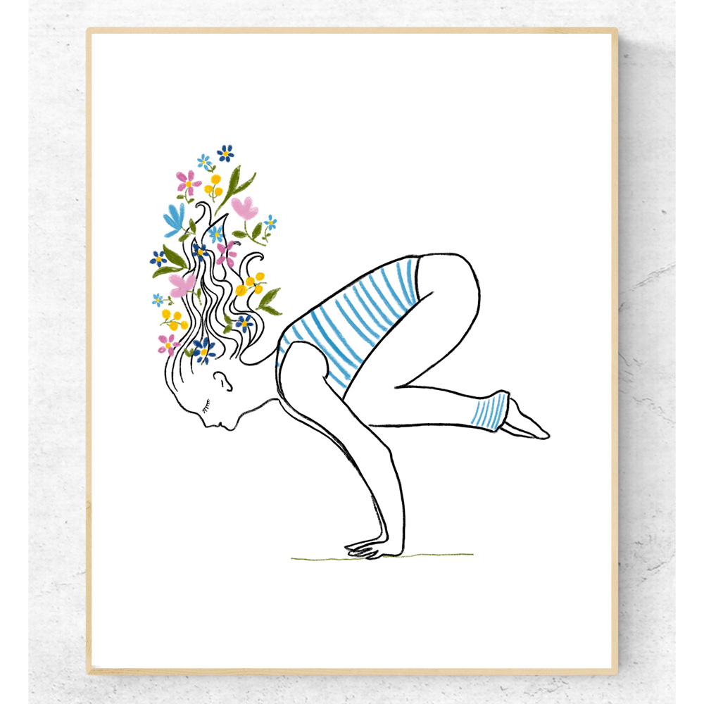 Hatha yoga asana printable art
