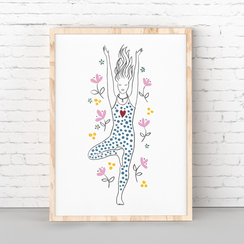 Printable yoga asana art