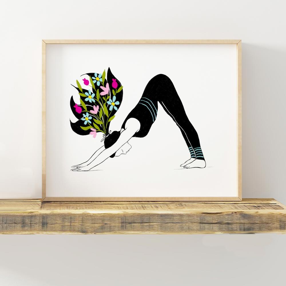 Yoga asana poster wall art