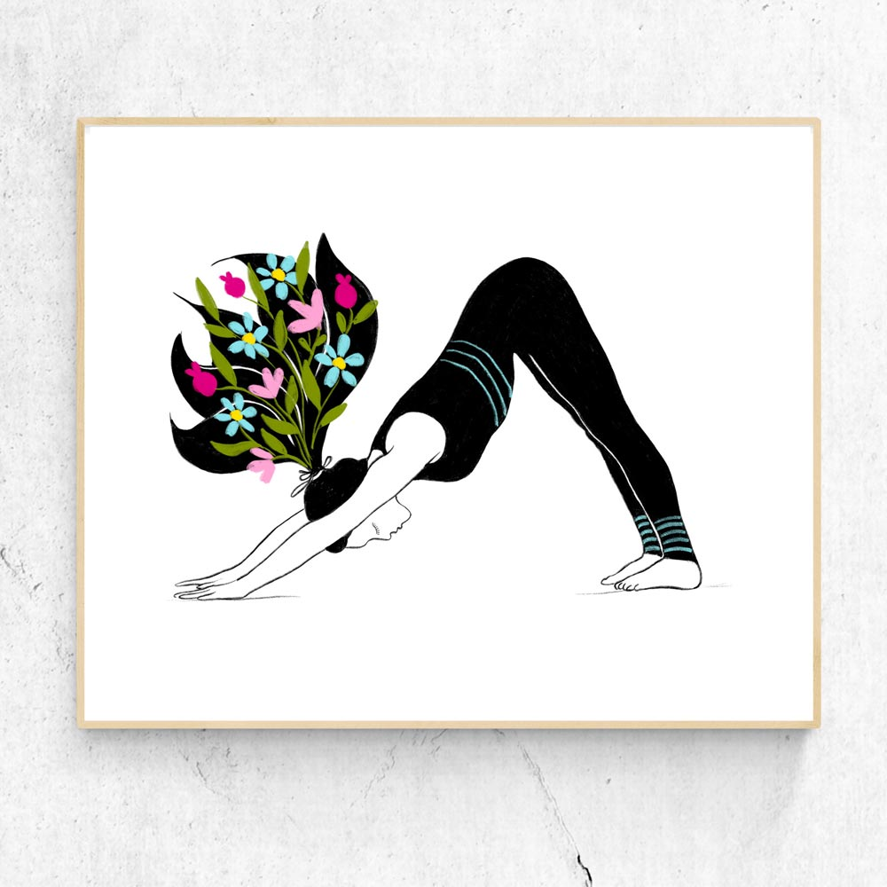 Yoga asana poster printable art