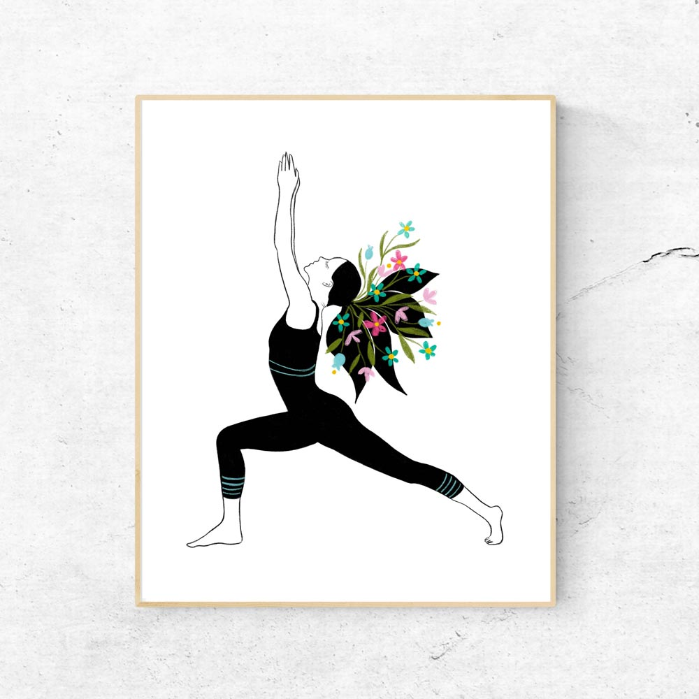 Yoga poster printable art