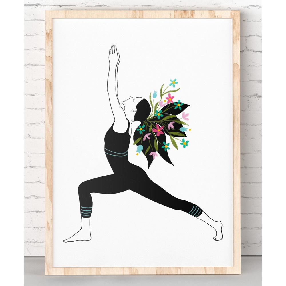 Yoga poster printable wall art