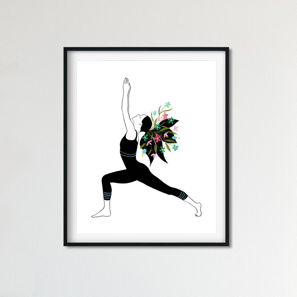 Yoga poster wall art detail