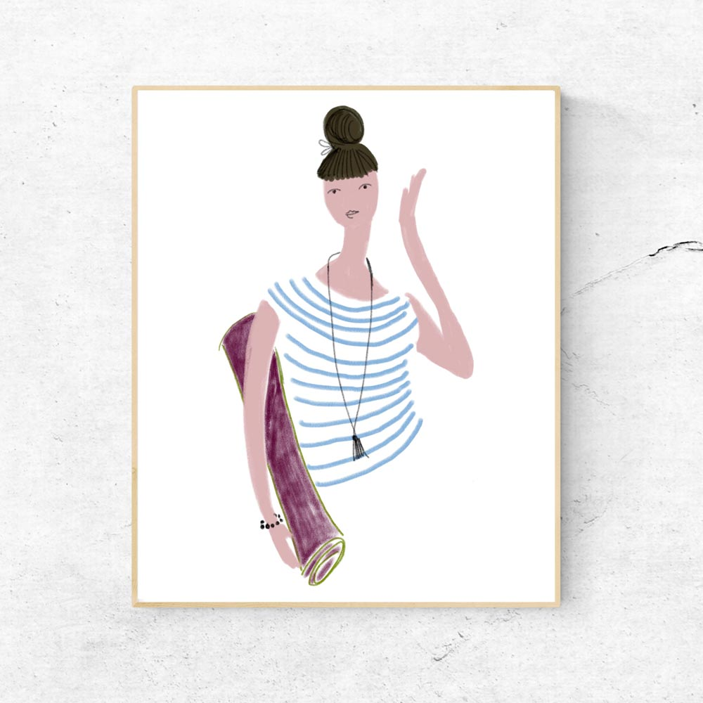 Yoga girl printable wall art