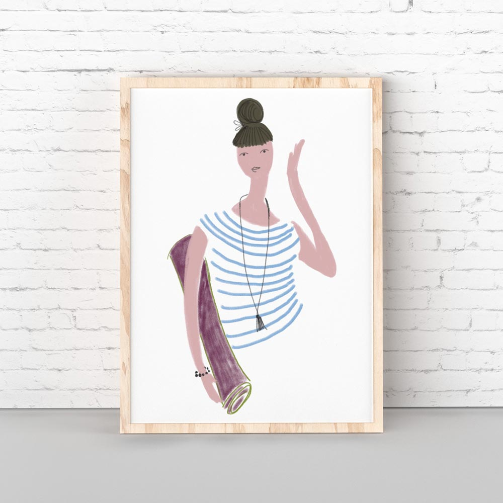 Yoga girl printable art