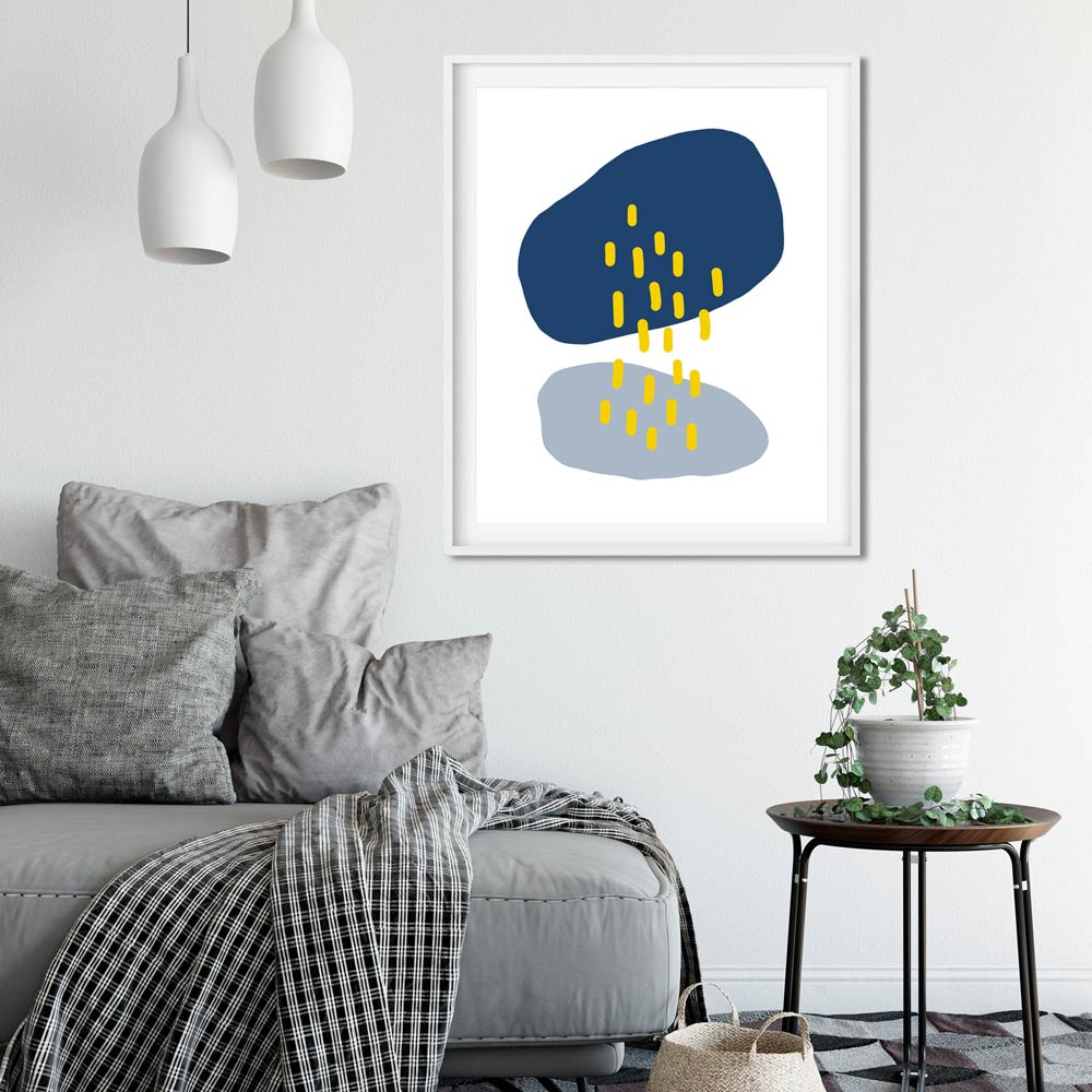 Abstract rain wall art