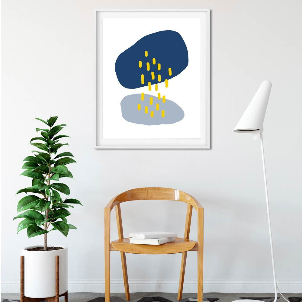Rain Cloud printable art frame