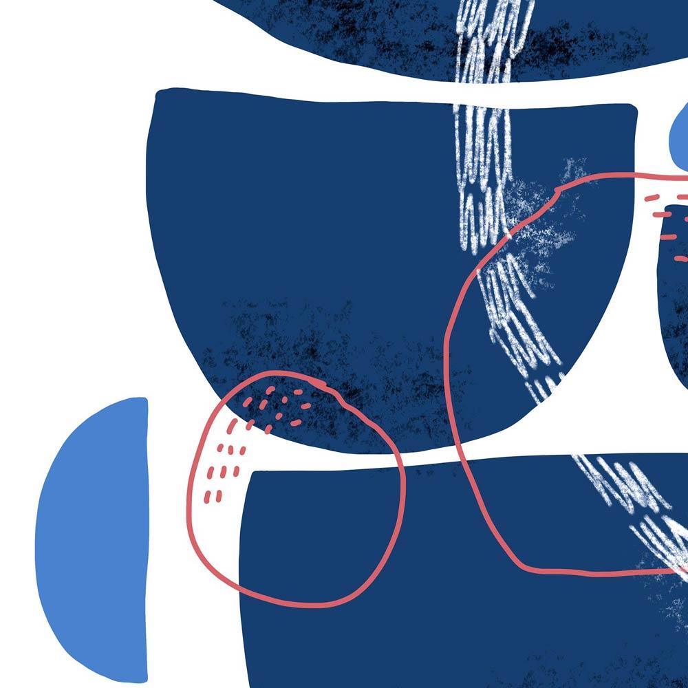 Blue Stones wall art printable detail