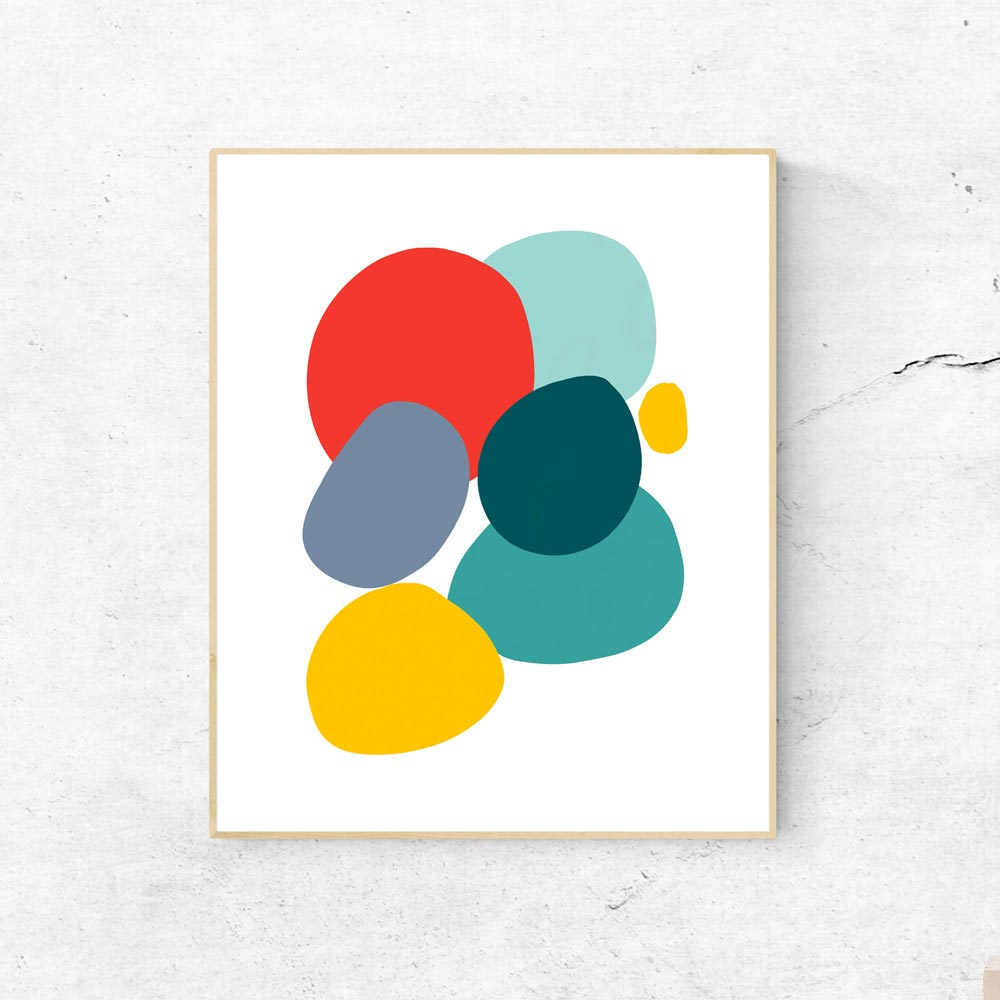 Colorful Stones abstract wall art