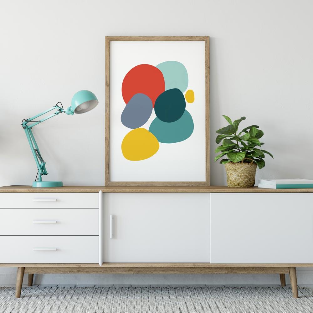 Colorful Stones art decor