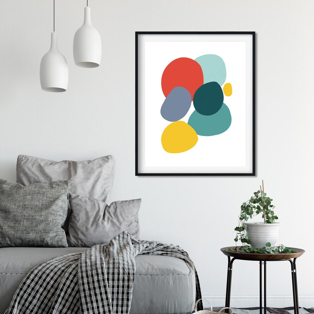 Colorful Stones wall art