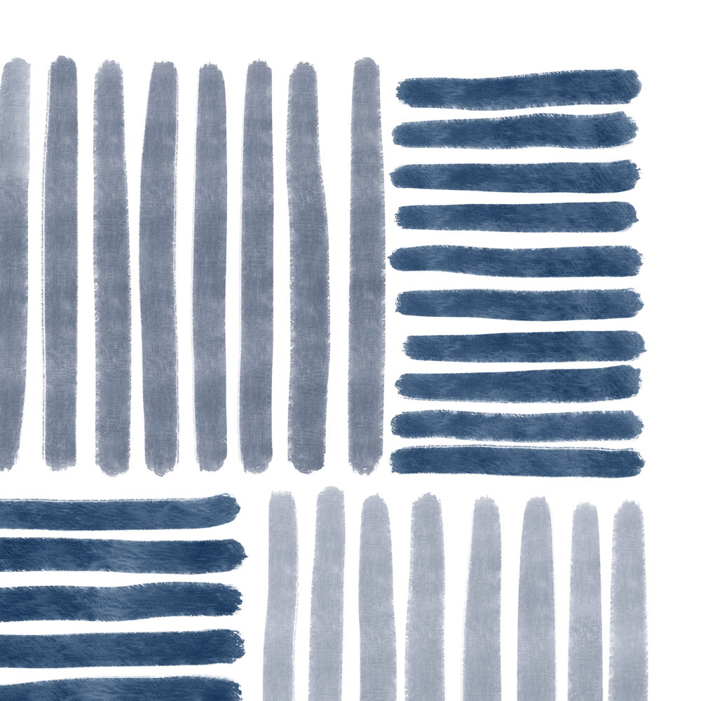 Blue stripes wall art