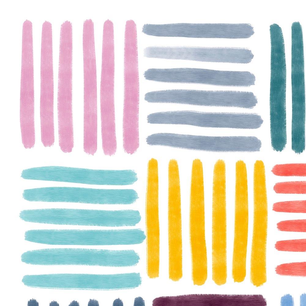 Colorful Stripes art detail