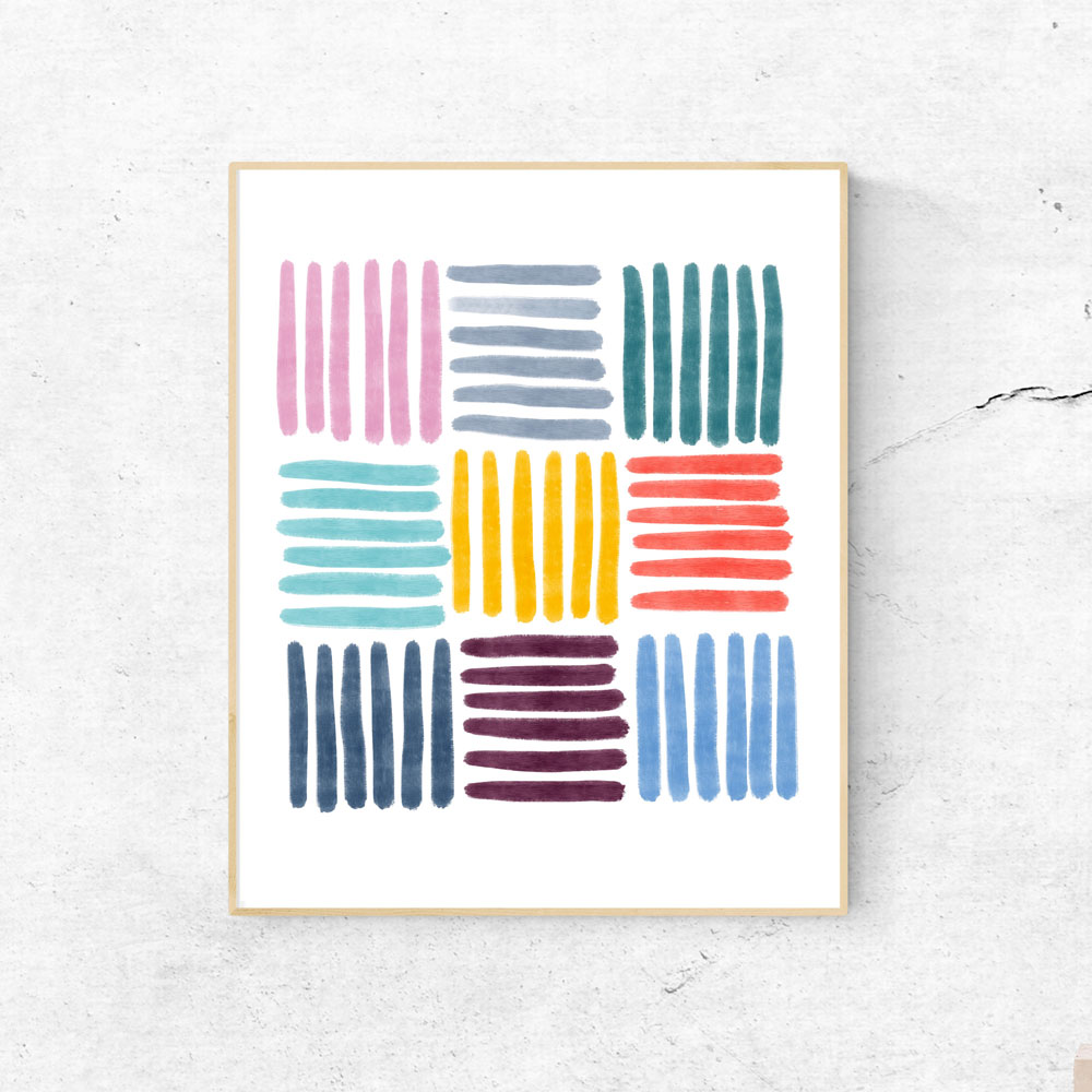 Colorful Stripes wall art