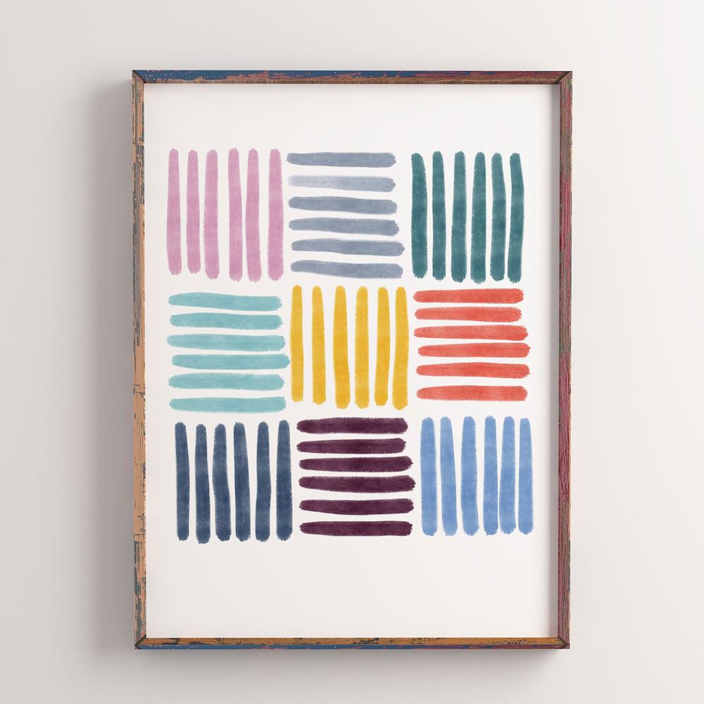 Colorful Stripes printable wall art