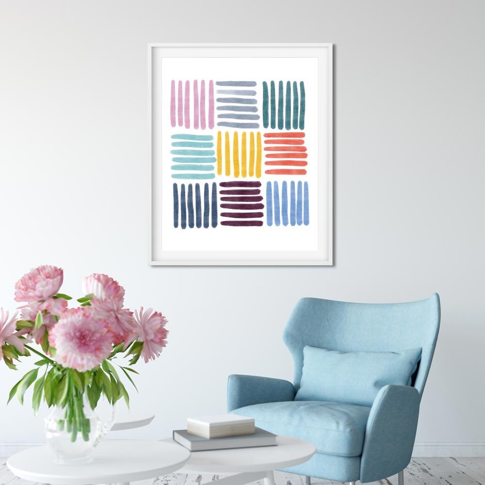 Colorful Stripes printable art