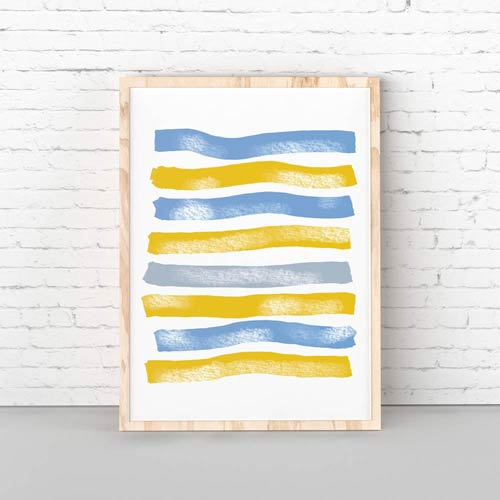 Blue Yellow Stripes
